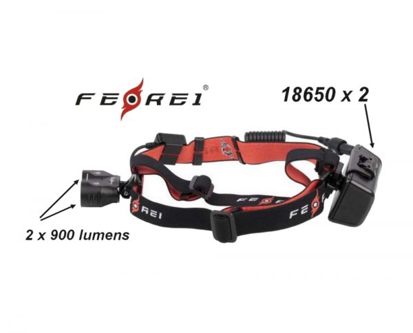 Powerful headlight for orienteering running