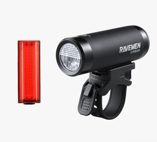 Front and rear cycle light set for urban cycling and cycle commuting